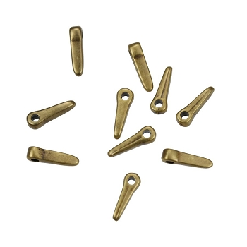 Small Thin Spike Drop Antique Brass - per 10 pieces