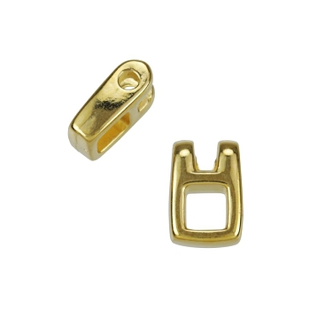 Small Open Square Drop Shiny Gold - per 10 pieces