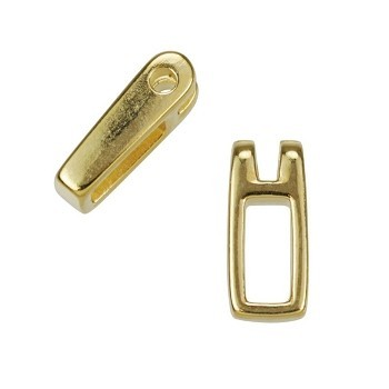 Small Open Rectangle Drop Shiny Gold - per 10 pieces