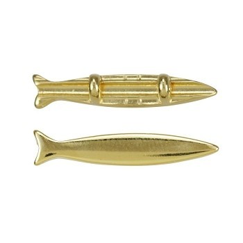 Small Fish Bead Shiny Gold - per 10 pieces