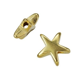 Small Starfish Bead Shiny Gold - per 10 pieces