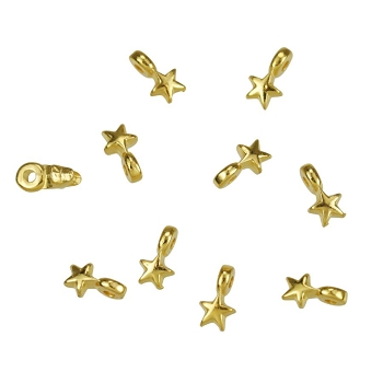 Small Star Charm Shiny Gold - per 10 pieces