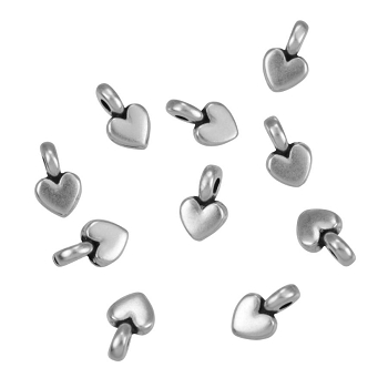Small Heart Charm Antique Silver - per 10 pieces