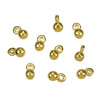 Small Ball Charm Shiny Gold - per 10 pieces