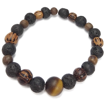Lava Rock and Tiger Eye Bracelet Kit