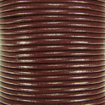 2mm Round Indian Leather Cord - Brown - per foot