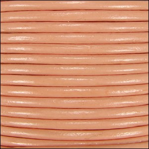 2mm Round Indian Leather Cord - Peach
