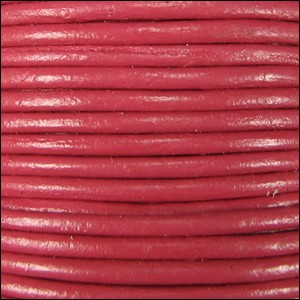 2mm Round Indian Leather Cord - Pink