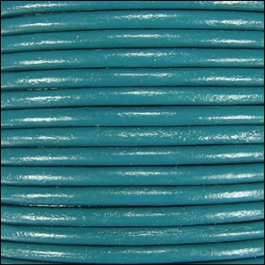 2mm Round Indian Leather Cord - Turquoise