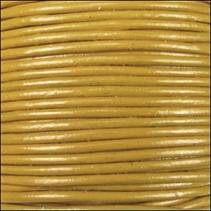 2mm Round Indian Leather Cord - Yellow
