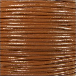 2mm Round Indian Leather Cord - Caramel - per foot