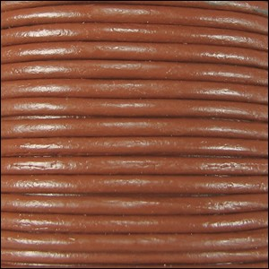 2mm Round Indian Leather Cord per 25M Spool - Toffee