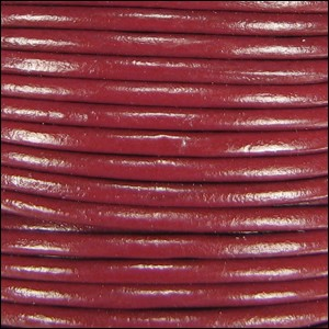 2mm Round Indian Leather Cord - Rust