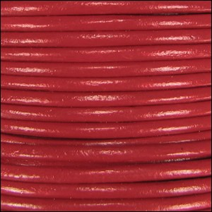 2mm Round Indian Leather Cord - Brick Red - per foot