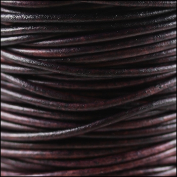 2mm Round Indian Leather Cord - Violet Natural Dye
