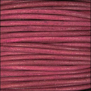 2mm Round Indian Leather Cord - Cyclman Natural Dye - per foot