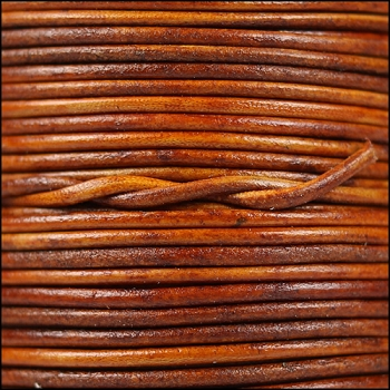 2mm Round Indian Leather Cord - Natural Light Brown
