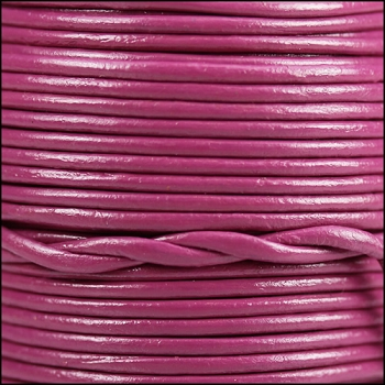 2mm Round Indian Leather Cord - Mulberry