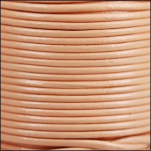 2mm Round Indian Leather Cord - Blush - per foot