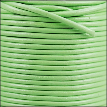 2mm Round Indian Leather Cord - Fern Green - per foot
