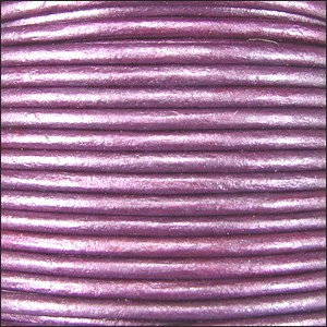 2mm Round Indian Leather Cord - Metallic Purple