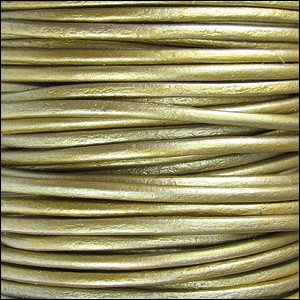 2mm Round Indian Leather Cord - Metallic Tota
