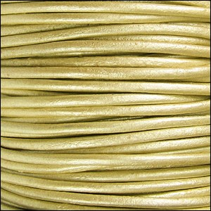2mm Round Indian Leather Cord - Metallic Maina