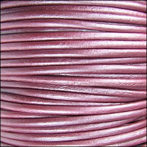 2mm Round Indian Leather Cord - Metallic Fruit Punch