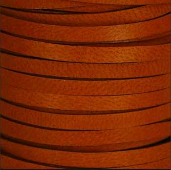 3mm Flat Deerskin Lace Cord - SADDLE BROWN