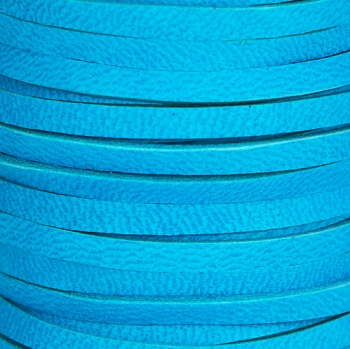 3mm Flat Deerskin Lace Cord - TURQUOISE