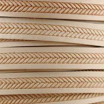 10mm Imprinted Braid Leather - Natural