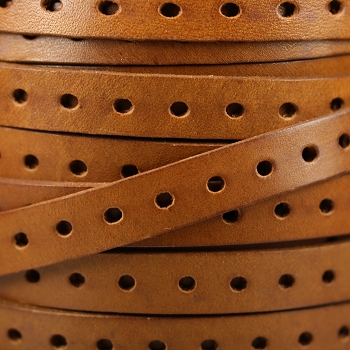 10mm Punched Leather - Tan