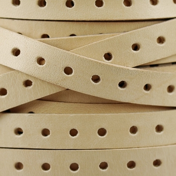 10mm Punched Leather - Natural