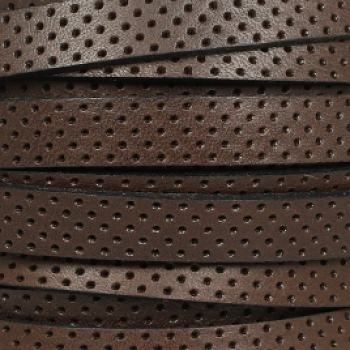 10mm Perforated Leather - Brown