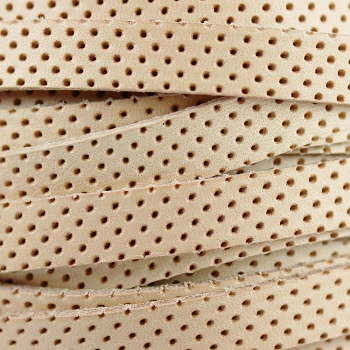 10mm Perforated Leather - Tan