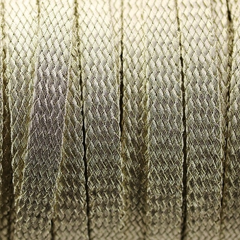 Woven Mesh 10mm flat cord -  Gold - per inch