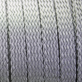 Woven Mesh 10mm flat cord -  Silver
