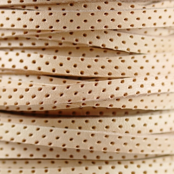 5mm Perforated Leather - Natural