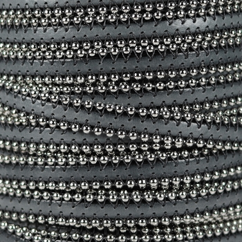 Ball Chain 10mm Flat Leather DARK GREY