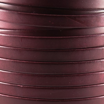 Bruciato 10mm Flat leather cord -  Burgundy