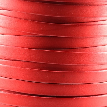 Bruciato 10mm Flat leather cord -  Red