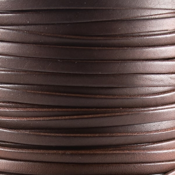 Bruciato 5mm Flat leather cord -  Brown