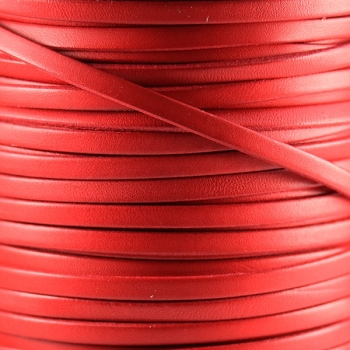 Bruciato 5mm Flat leather cord -  Red