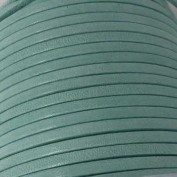 3mm Flat Leather Cord - Candy Turquoise - per inch