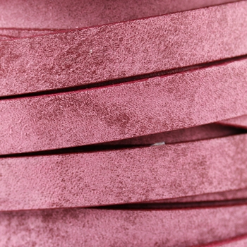 Vintage Shabby Chic 10mm Flat leather PLUM