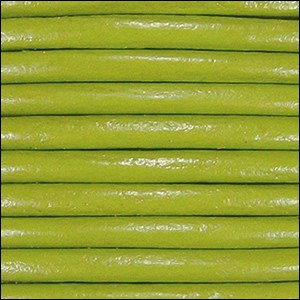 2mm Round Euro Leather Cord per 25M SPOOL - Pistachio