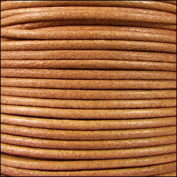 2mm Round Mediterranean Leather Cord - Natural