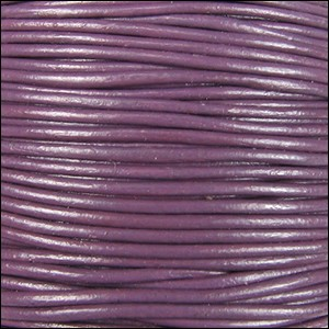 3mm Round Indian Leather Cord -Lilac - per inch