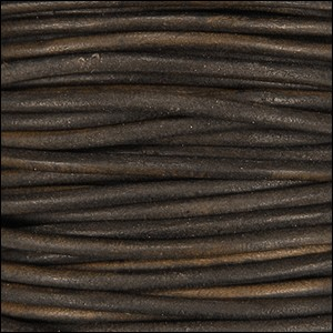 3mm Round Indian Leather Cord -Antique Brown