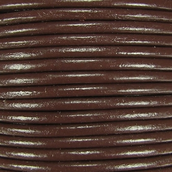 Euro 4mm Round Leather Cord - BROWN